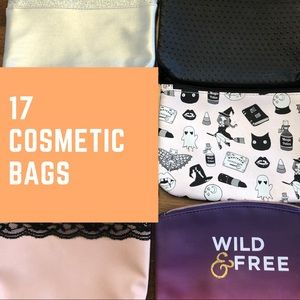 Handbags - 17 small cosmetic bags